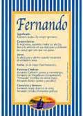 Significado del nombre Fernando en la numerología