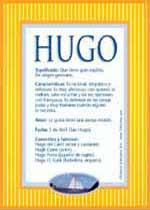 Significado del nombre Hugo en numerología