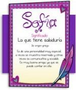 Significado del nombre Sofía