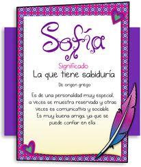 Significado del nombre Sofía Y su personalidad