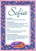 Significado del nombre Sofía en la numerología