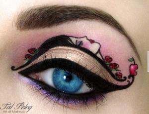 Cómo maquillarse los ojos con una silueta femenina.