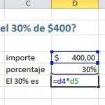 Calcular porcentaje en Excel