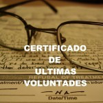 Certificado ultimas voluntades