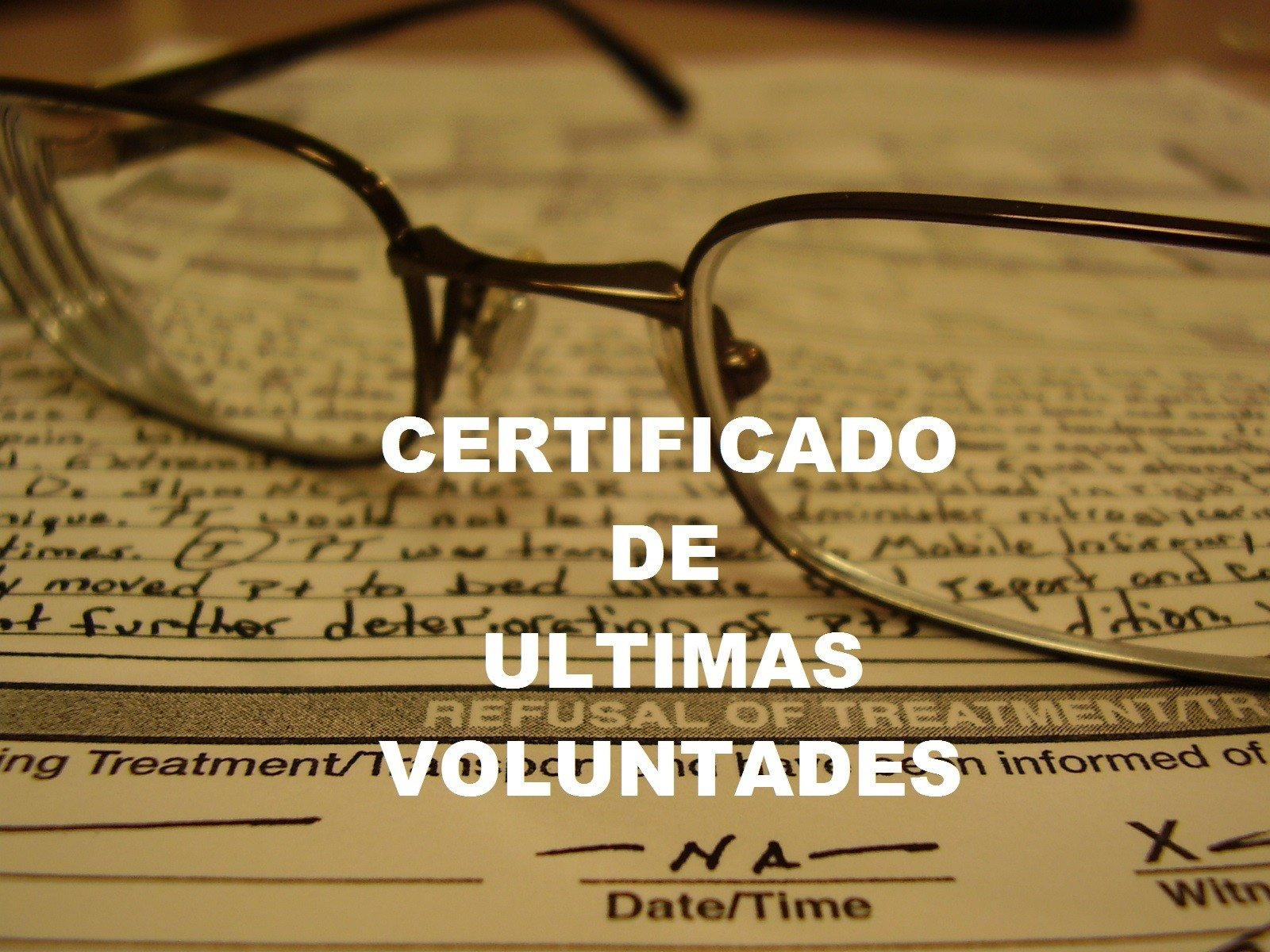 Certificado ultima voluntades