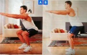 Entrenamiento espartano:  Sentadillas con salto