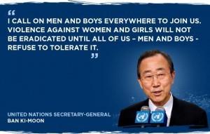 Frases contra la violencia de género De Ban Ki Moon