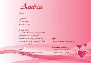 Qué significa el nombre Andrea Y su personalidad