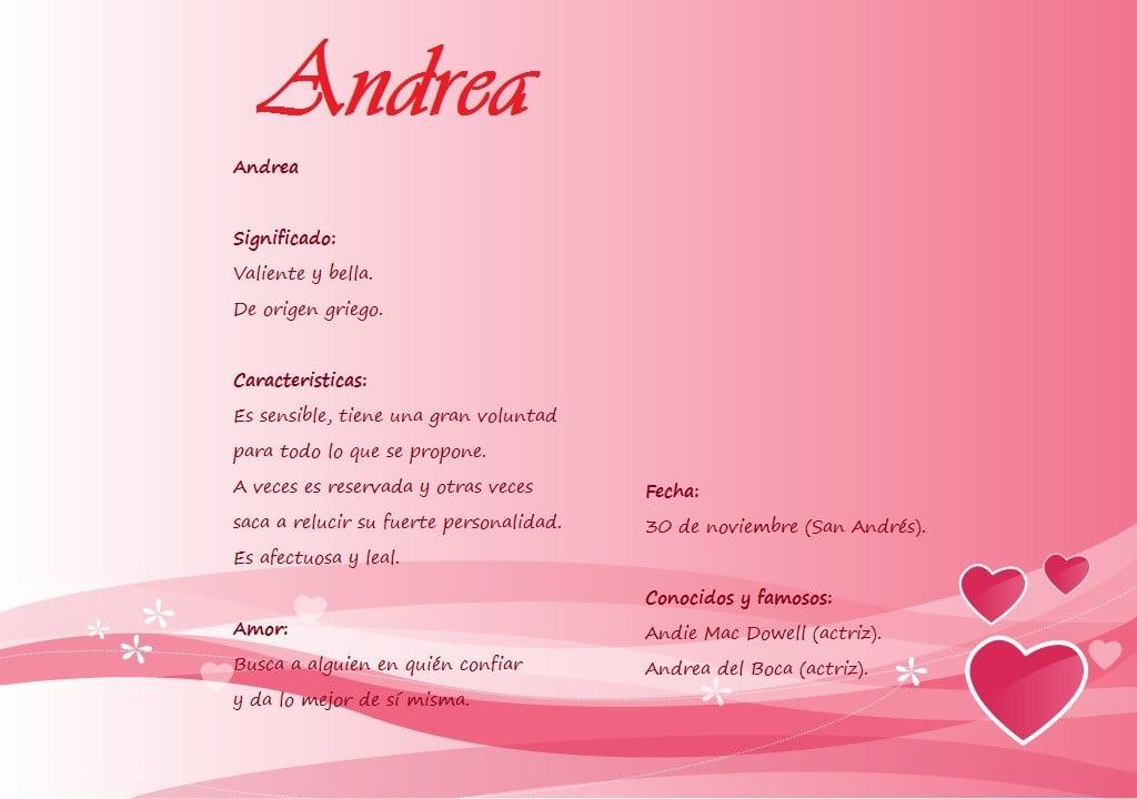Qu 233 Significa El Nombre Andrea Ejemplos De