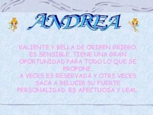 Qué significa el nombre Andrea y el análisis de la numerología