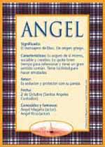Significado del nombre Ángel y su origen
