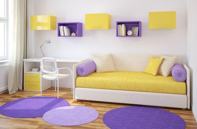 Colores para dormitorios ejemplos de for Habitacion lila y blanca