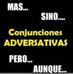 Conjunciones adversativas