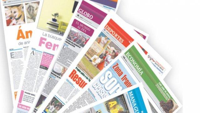 Las secciones como partes de un periódico.