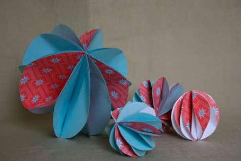 adornos navideos de papel