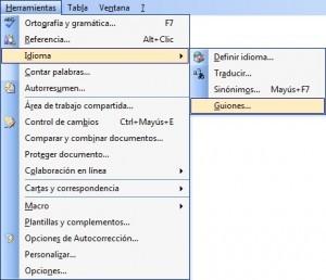 Contador de palabras En Microsoft 2003