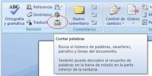 Contador de palabras en Microsoft Word 2007