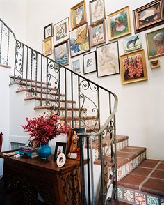 Decoración de escaleras De interiores