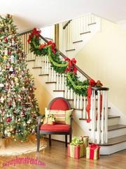 Decoración de escaleras Para Navidad