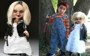 Chucky y su novia, en disfraces de halloween.