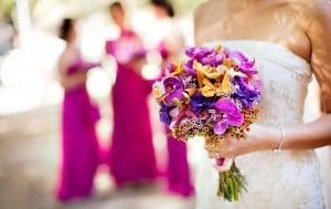 Hermosa flores de primavera para boda.