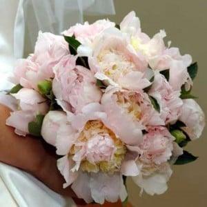 Las peonias, es la flor de las boda.