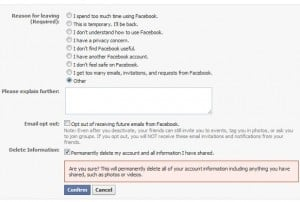 Cómo eliminar mi cuenta de facebook para siempre
