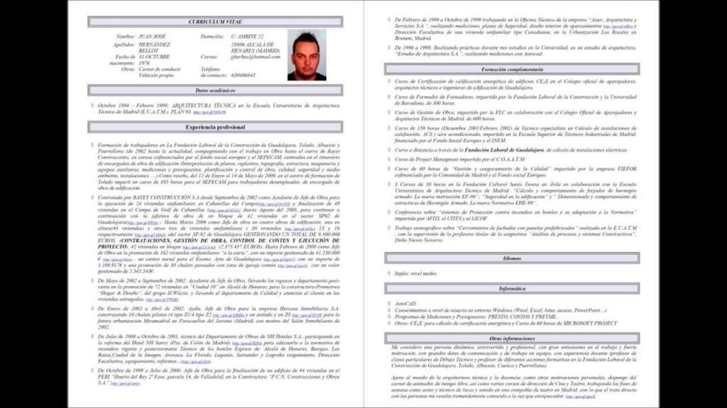 Currículum arquitecto