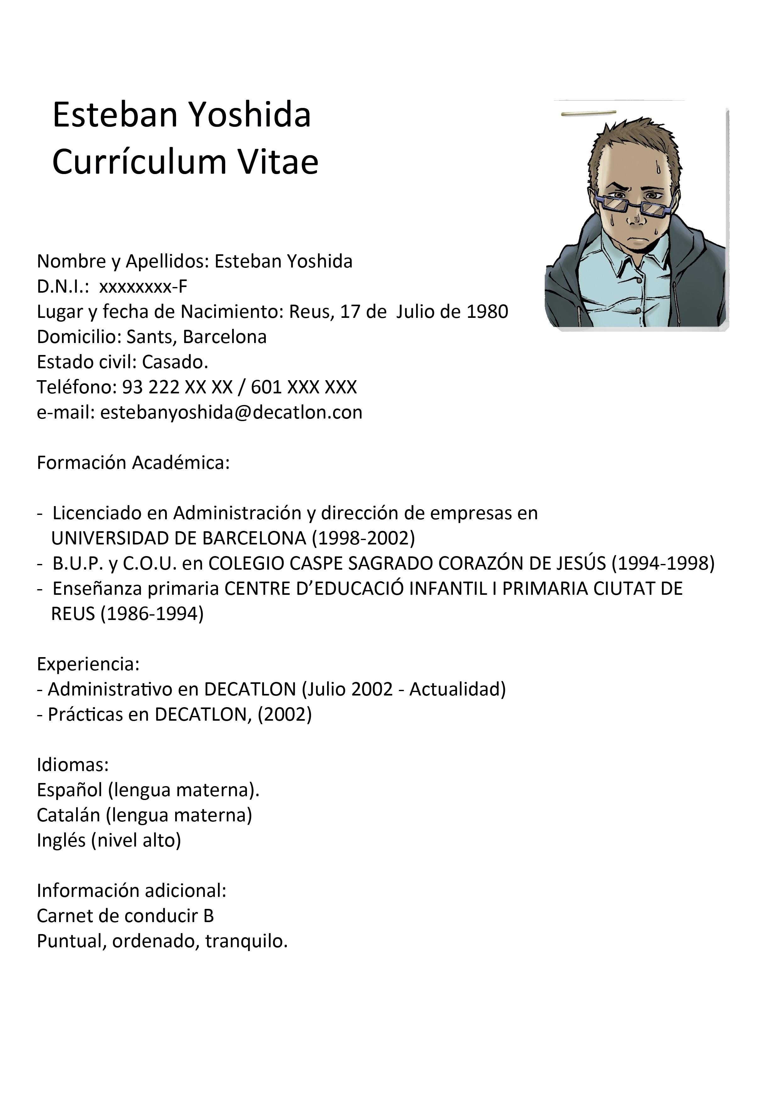 Currículum-con-foto-3 Que Poner En Un Curriculum Vitae on ejemplos de, formato de, resume or, high school, what is,
