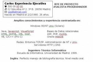 Currículum ejecutivo