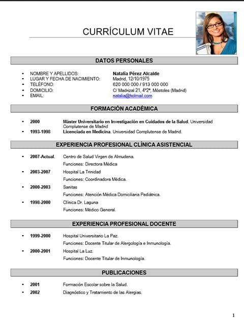 Currículum médico