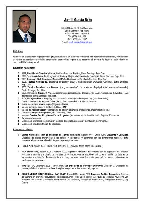 Ejemplo De Resumen Ejecutivo De Curriculum Vitae