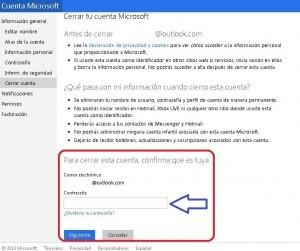 Cómo eliminar una cuenta de Hotmail
