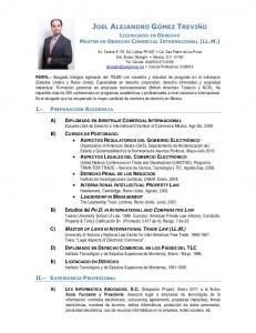 Currículum abogado