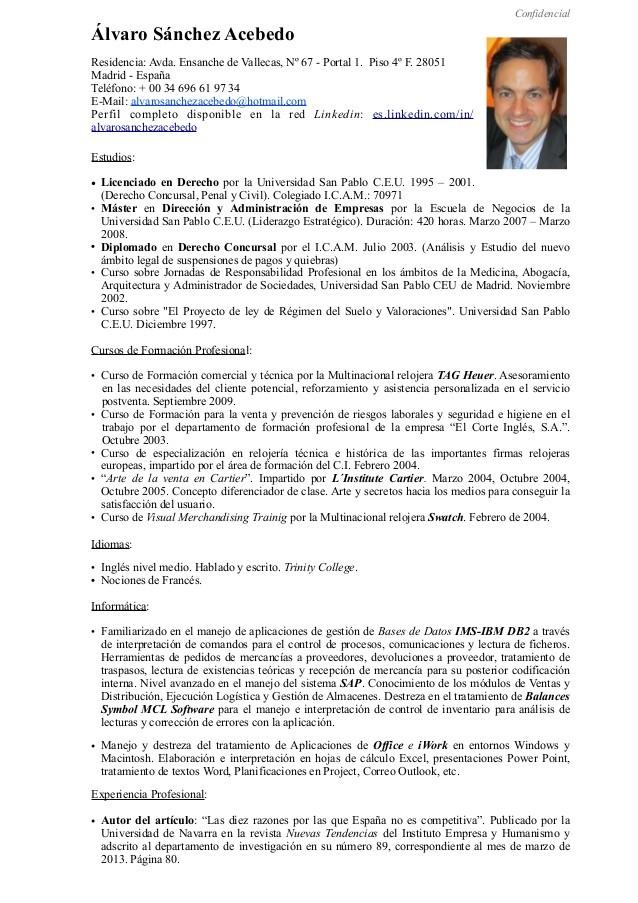 Dorable Perfil De Curriculum Componente - Ideas De Ejemplo De ...