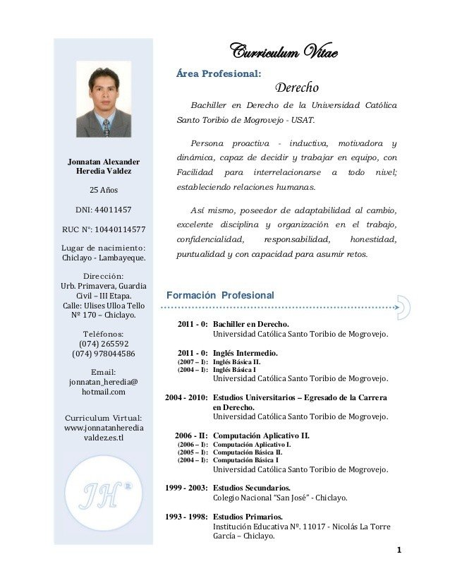 Modelo curriculum vitae 2016 peru - kantorpengacara-bhp.com