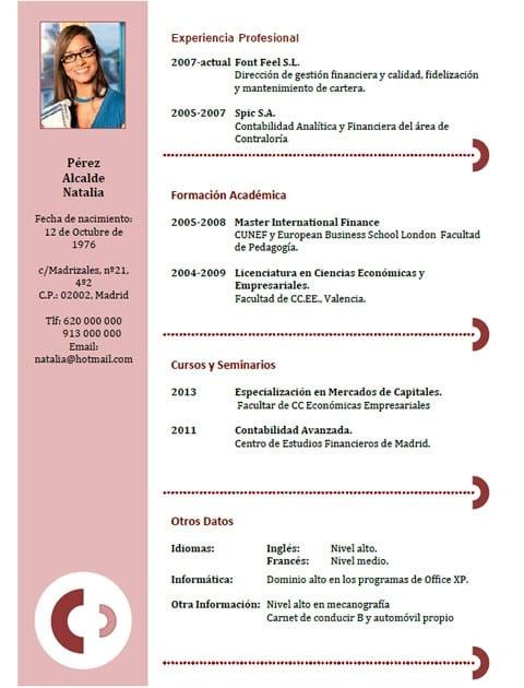 Currículum secretaria ejecutiva