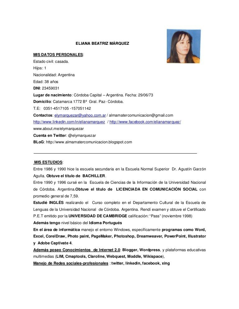 Currículum-universitario-3 Que Incluye Un Curriculum Vitae on what is, high school, ejemplos de, formato de, resume or,