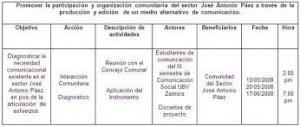 Formato de cronograma de actividades