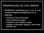 Propiedades físicas y químicas de los lípidos