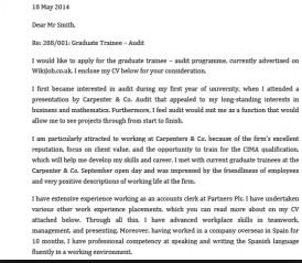 Carta de presentación en inglés