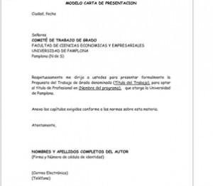 Carta de presentación para la universidad