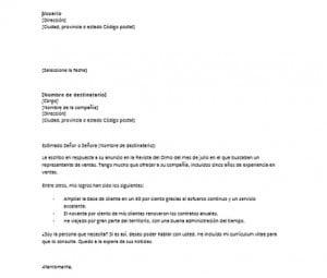 Carta de presentación sin experiencia