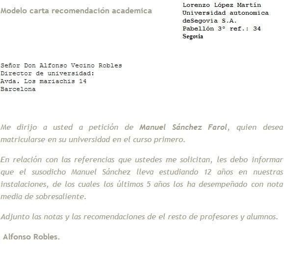 Carta De Recomendacion Estudiante About Quotes H