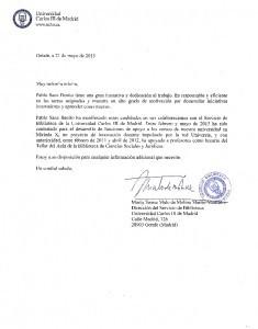 Ejemplo de carta de recomendación académica para universidad