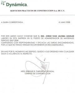 Ejemplo modelo Carta recomendación profesional