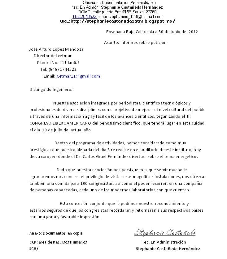 Modelo Carta Solicitud De Colaboración Ejemplos De
