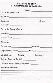 Modelo carta solicitud de beca
