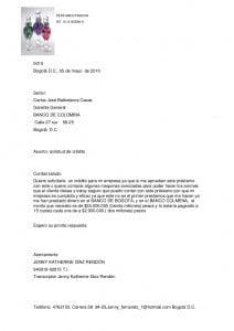 Modelo carta solicitud de préstamo 3