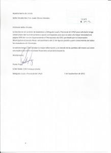 Modelo carta solicitud de presupuesto